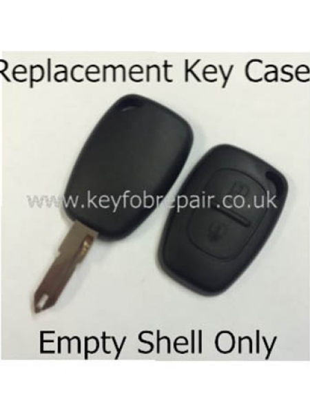 Renault 2 Button Key Case And Blank NE17 Keyblade-Trafic Kangoo Master Etc